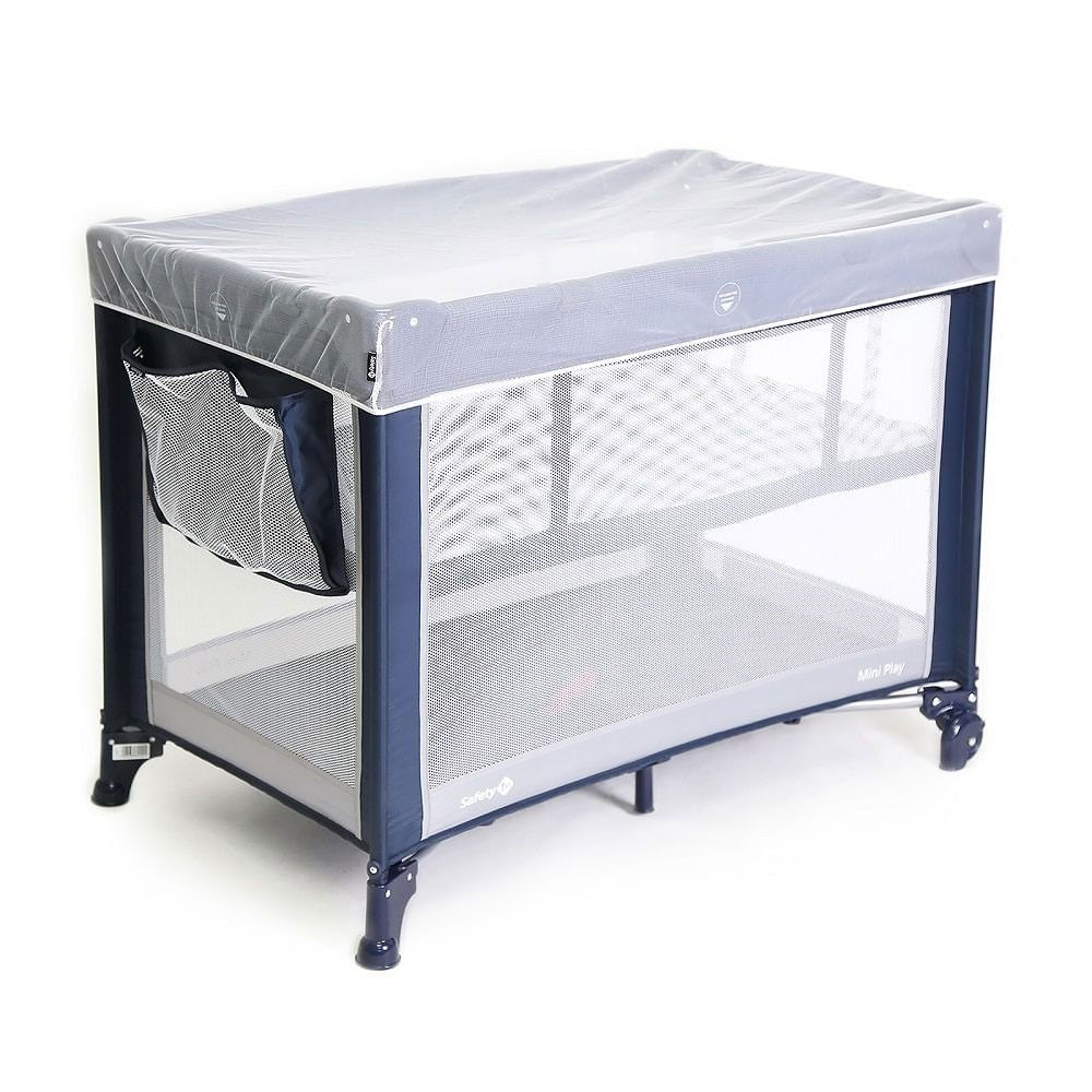 Berço Portátil - Mini Play - Níveis de Altura - Azul - Safety 1st