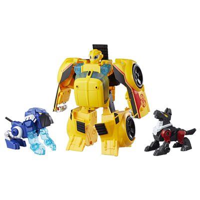 Figura-de-Acao-com-Luzes-e-Sons-25-Cm-Transformers-Bumblebee-Rescue-Guard-Hasbro_frente