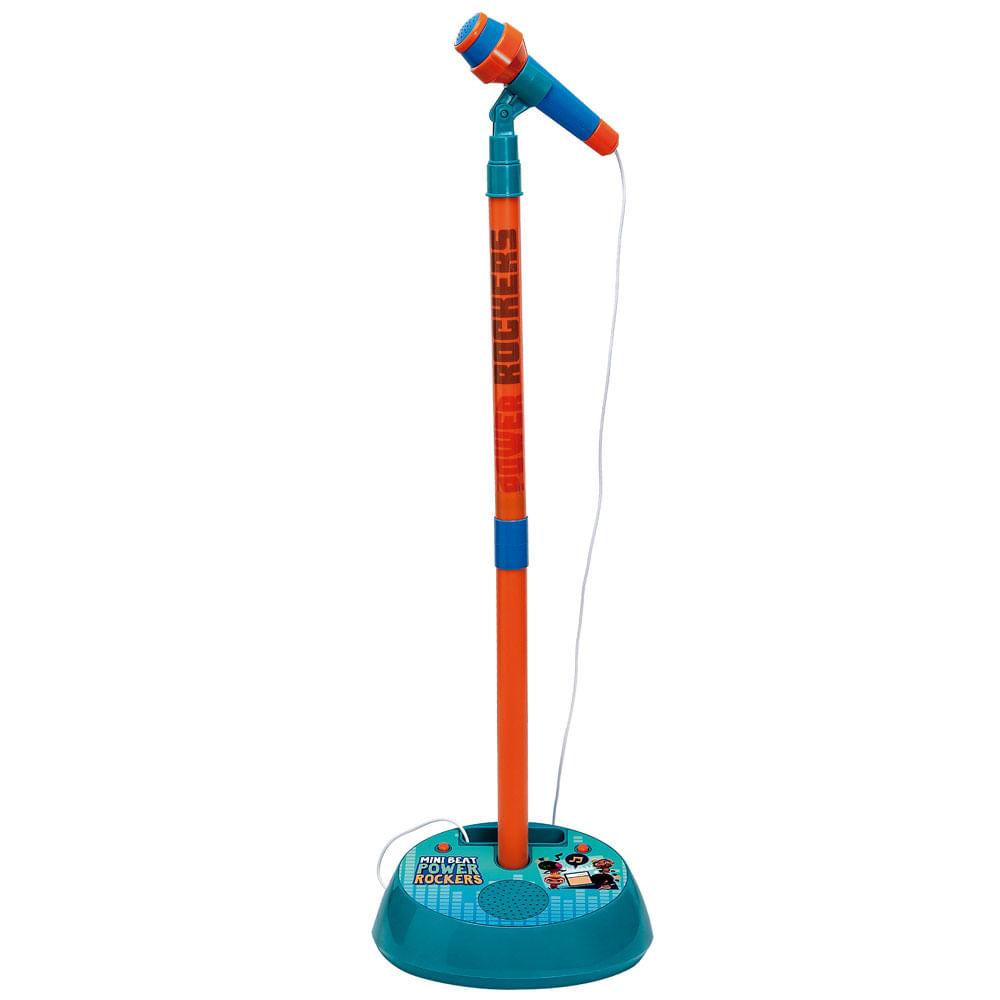 Microfone Infantil com Pedestal e Amplificador - Power Rockers - Fun