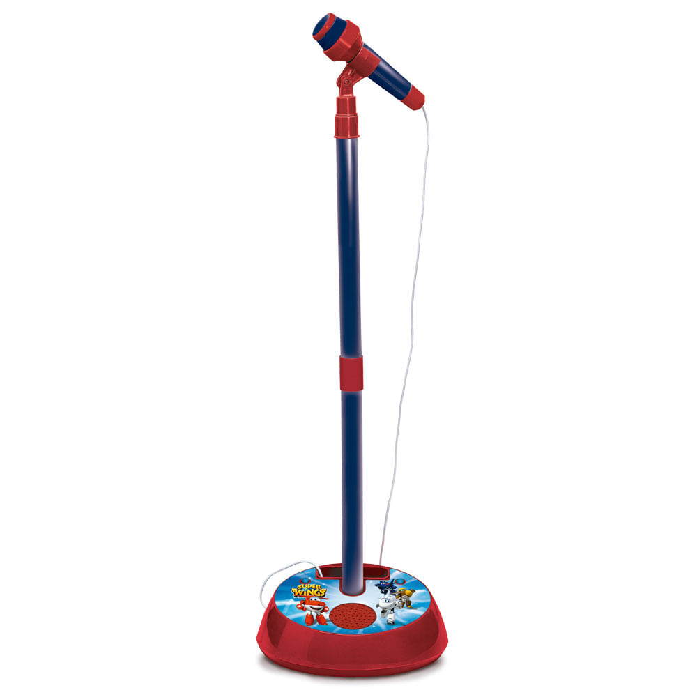 Microfone Infantil com Pedestal e Amplificador - Super Wings - Fun