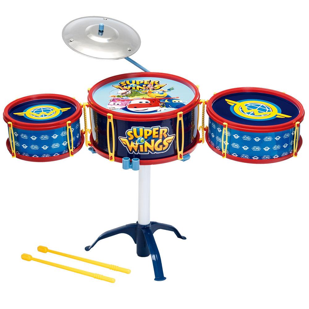 Bateria Infantil Musical - Super Wings - Fun