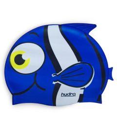 Touca-de-Silicone-Infantil-Hydro-Pinguim-Azul-SportCom_frente