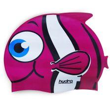 Touca-de-Silicone---Infantil-Hydro---Pinguim---Rosa---SportCom