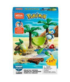 Blocos-de-Montar---Mega-Construx---Playset-de-Batalha---Pokemon---Piplup-Vs-Turtwig-e-Tiplouf-Vs-Tortipouss---Mattel