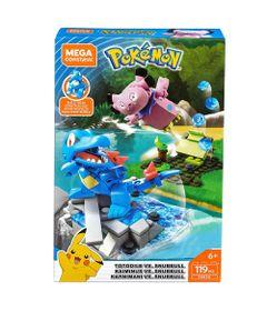 Blocos-de-Montar---Mega-Construx---Playset-de-Batalha---Pokemon---Totodile-Vs-Snunnull-e-Kaiminus-Vs-Snubbull---Mattel