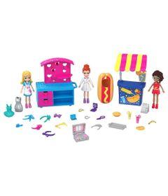 Playset-e-Mini-Boneca---Polly-Pocket---Carrinho-de-Moda-e-Comida---Mattel