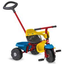 Triciclo-de-Passeio-e-Pedal---Smart-Plus---Amarelo-Azul-e-Vermelho---Bandeirante