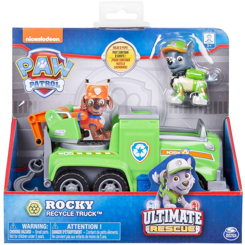 Veiculo E Figura Patrulha Canina Ultimate Resgate Rocky