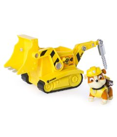 Mini-Figura-e-Veiculo---11Cm---Patrulha-Canina---Rubble---Bulldozer---Sunny