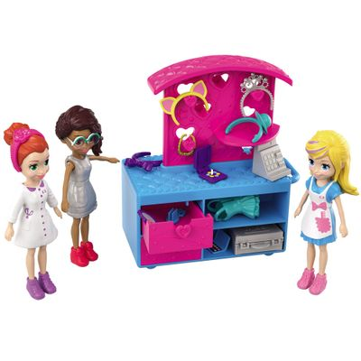 Playset-e-Mini-Boneca-Polly-Pocket-Quiosque-da-Moda-Mattel_frente