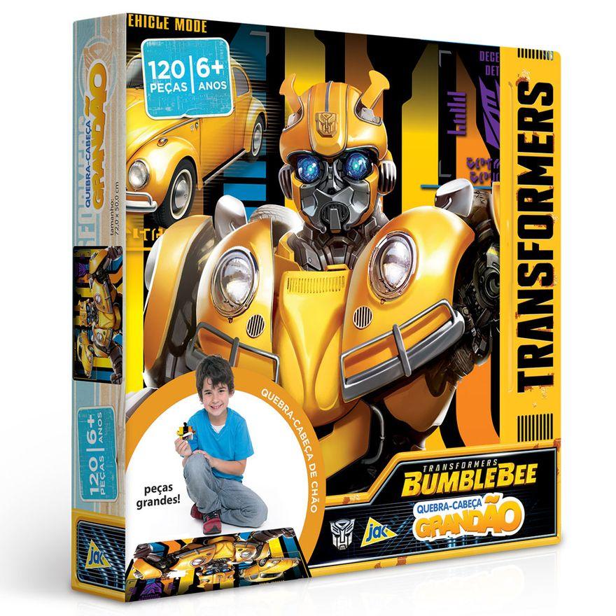 Quebra-Cabeca-Grandao---120-Pecas---Transformers---Bumblebee---Toyster