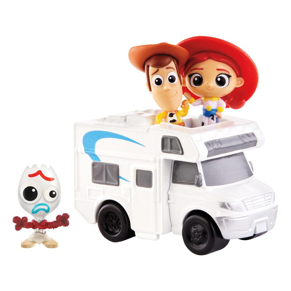 Conjunto de Mini Figuras e Veículo - Disney - Pixar - Toy Story 4 - Mattel