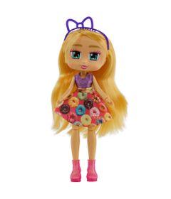 Boneca-Articulada---26-Cm---Boxy-Girls---Hazel-com-Vestido-de-Rosquinha---Candide