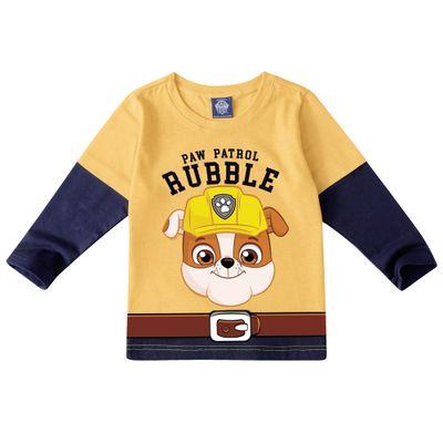 Camiseta-Manga-Curta---Patrulha-Canina---Rubble---100--Algodao---Amarelo---Malwee---1