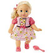 Boneca-Bebe---Little-Mommy---Doce-Bebe---Loira---Vestido-Rosa-com-Flor---Mattel