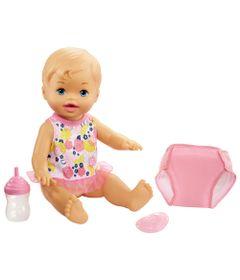 Boneca-Little-Mommy---Bebe-Faz-Xixi---Loira---Body-Branco-e-Rosa---Mattel