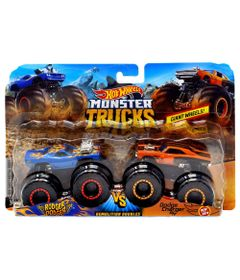 Conjunto-de-Veiculos-Hot-Wheels---Monster-Trucks---Rodger-Dodger-e-Dodge-Charger-R-T---Mattel