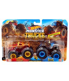 Conjunto-de-Veiculos-Hot-Wheels---Monster-Trucks---Spur-Of-The-Moment-e-Steer-Clear---Mattel