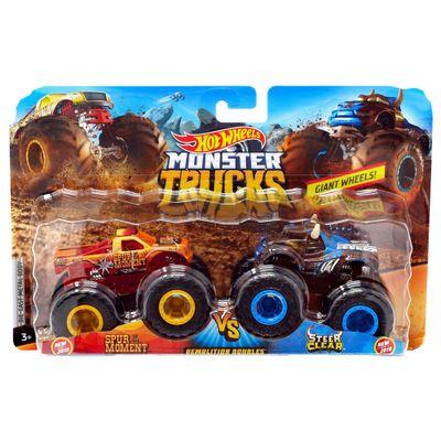 Conjunto-de-Veiculos-Hot-Wheels---Monster-Trucks---Spur-Of-The-Moment-e-Steer-Clear---Mattel