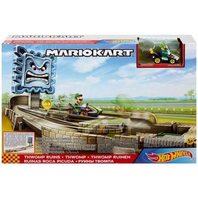 Pista-de-Percurso-e-Veiculo---Hot-Wheels---Mario-Kart---Luigi---Thwomp-Ruins---Mattel