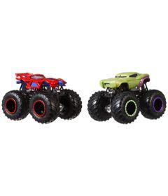 Conjunto-de-Veiculos-Hot-Wheels---Monster-Trucks---Disney---Marvel---Homem-Aranha-e-Hulk---Mattel