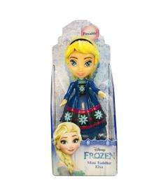 Mini-Boneca---10Cm---Disney---Frozen---Elsa---Vestido-Azul-com-Flor---Sunny
