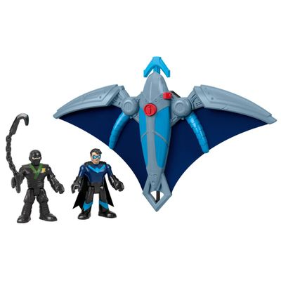 Veiculos---Imaginext-DC-Super-Amigos---Ninja-Nightwing-e-Glider---Fisher-Price