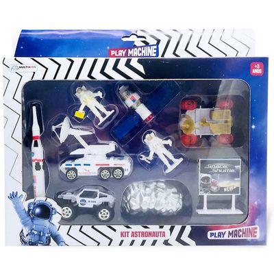 Conjunto de Veiculos Play Machine Space Adventure Kit Astronauta Multikids