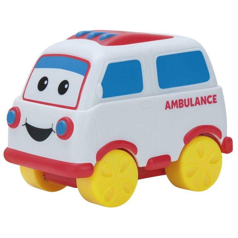 Carrinho De Friccao Bob O Trem Turma Turbo Ambulancia Fun