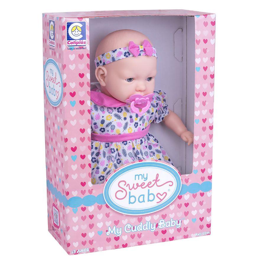 Boneca---44cm---My-Sweet-Baby---Vestido-Rosa-com-Folhas-e-Flor--Cotiplas_Embalagem