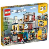 LEGO-Creator---3-em-1---Townhouse-Pet-Shop-e-Cafe---31097