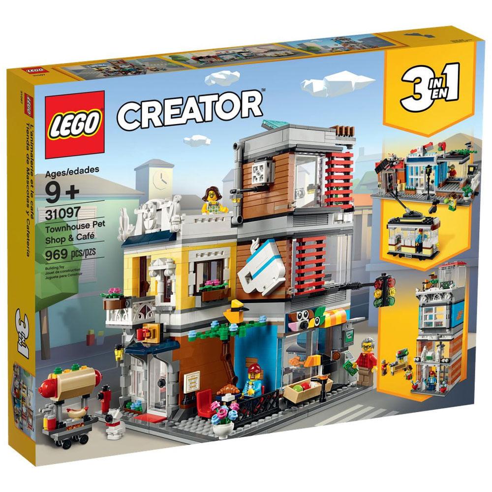 LEGO Creator - 3 em 1 - Townhouse Pet Shop & Café - 31097