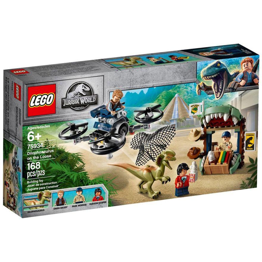 LEGO-Jurassic-World---Dilophosauro-a-Solta---75934