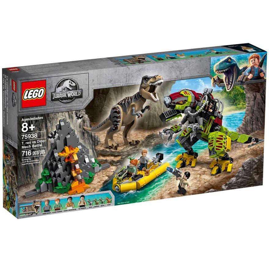 LEGO-Jurassic-World---T-Rex-Vs-Robo-Dino---75938