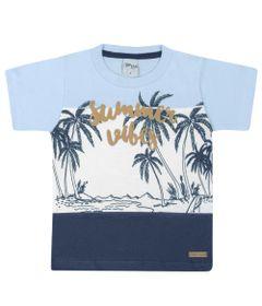 Camisa-Infantil---Manga-Curta---Estampa-Summer---Azul---Livy-Malhas---1