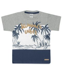Camisa-Infantil---Manga-Curta---Estampa-Summer---Cinza---Livy-Malhas---1