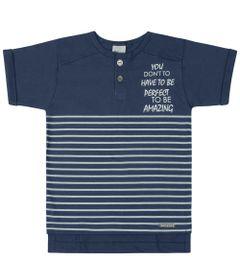 Camisa-Infantil---Manga-Curta-Listrada---Azul---Livy-Malhas---1
