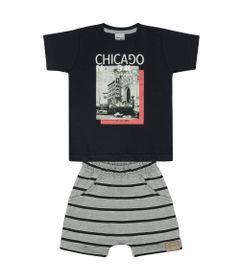 Conjunto-Infantil---Camisa-Manga-Curta-e-Bermuda---Preto-e-Mescla---Livy-Malhas---3