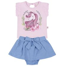 Conjunto-Infantil---Camisa-Manga-Curta-e-Saia---Unicornio---Rosa---Livy-Malhas---P