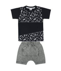 Conjunto-Infantil---Camisa-Mnaga-Curta-e-Bermuda---Azul-e-Mescla---Livy-Malhas---1