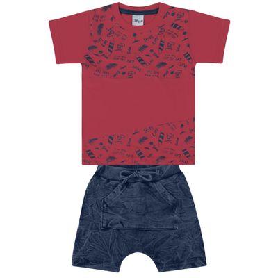 Conjunto-Infantil---Camisa-Mnaga-Curta-e-Bermuda---Vermelho-e-Azul---Livy-Malhas---1