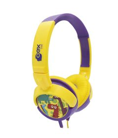 Headphone-Infantil---Dino---Amarelo-e-Roxo---OEX-Kids