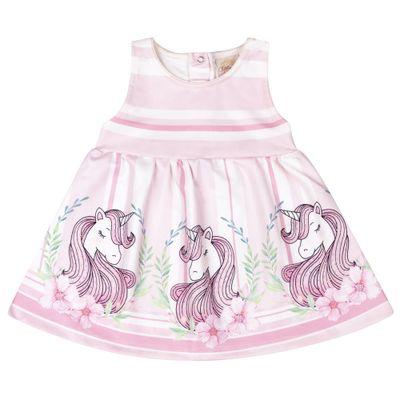 Vestido-Infantil---Estampa-Unicornio---Rosa---Livy-Malhas---G