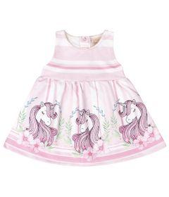 Vestido-Infantil---Estampa-Unicornio---Rosa---Livy-Malhas---P