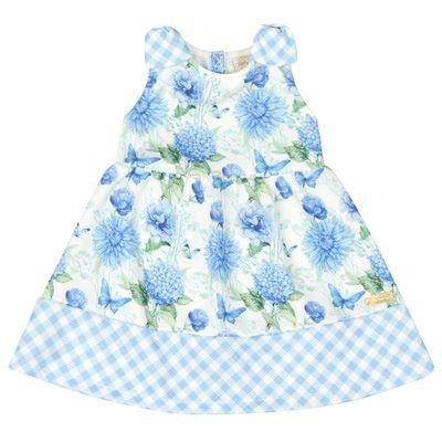 Vestido-Infantil-Floral---Sem-Manga---Xadrez-Azul---Livy-Malhas---3