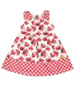Vestido-Infantil-Floral---Sem-Manga---Xadrez-Rosa---Livy-Malhas---1