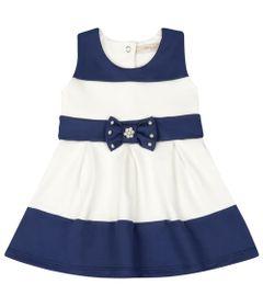 Vestido-Infantil---Lacinho-Azul---Listrado-Azul-e-Branco---Livy-Malhas---G