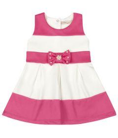 Vestido-Infantil---Lacinho-Rosa---Listrado-Rosa-e-Branco---Livy-Malhas---G