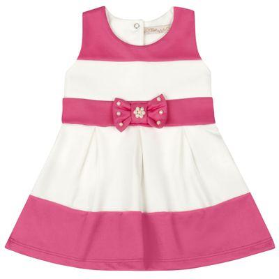 Vestido-Infantil---Lacinho-Rosa---Listrado-Rosa-e-Branco---Livy-Malhas---P