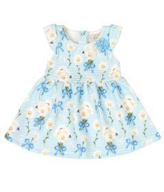 Vestido-Infantil-Sem-Manga---Floral---Azul---Livy-Malhas---P